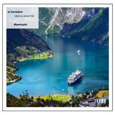 """Norvegia este cunoscută ca """"Țara fiordurilor"""", datorită celor aproape 2.000 de golfuri marine sinuoase, formate între malurile abrupte de stâncă. Apărute în urmă cu mii de ani și modelate de precipitații, fiordurile norvegiene sunt de o frumusețe rară, iar turiști din întreaga lume vin an de an să le viziteze și să se bucure de câteva momente de liniște profundă în mijlocul naturii. #devazut #bestoptic #travel"""