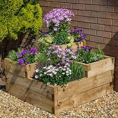 Buy the Forest Garden Caledonian Tiered Planter today! We offer a truly Unique Shopping Experience with Award Winning 5 Star Customer Service, Great Deals and Huge Savings! Raised Planter Beds, Raised Flower Beds, Raised Garden Beds, Raised Beds Sleepers, Raised Garden Planters, Fall Planters, Tiered Planter, Tiered Garden, Diy Garden