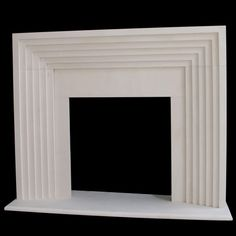 Deco Modern Fireplace Mantel Contemporary Limestone Cast Stone GFRC akgoods.com limestone