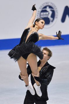 Elena Ilinykh and Nikita Katsalapov of Russia compete in the Ice Dance free program during day three of ISU Grand Prix of Figure Skating   - Love this part in their program