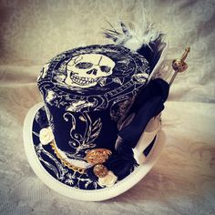 3 micro top hat  Steampunk Pirate hat Festival von OohLaLaBoudoir, $69.00