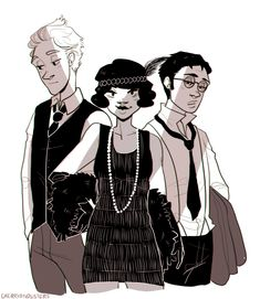 the cool kids in 1920′s clothing (Sou Cream kind of reminds me of Cecil Palmer from Night Vale in this)
