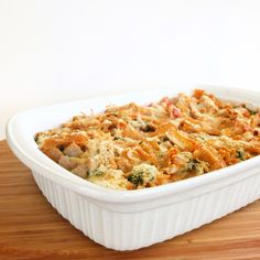 Easy recipe for baked pasta with chicken sausage.