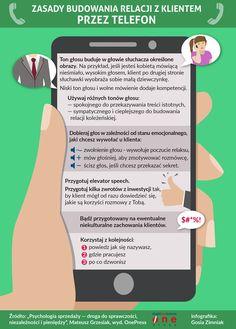 Zasady budowania relacji przez telefon #infografika #infographic