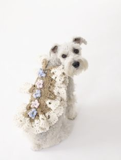 Princess Dog Coat - free crochet pattern,