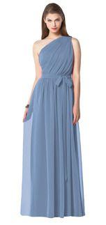 Slate blue bridesmaid gown