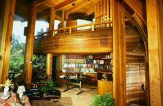Yen House, La Jolla, California, 1980. Kendrick Bangs Kellogg, a pioneer of organic architecture