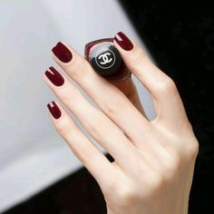 Related posts:Black Tipped French Manicure DesignBeautiful color and straight edge nailsAmazing ring and white medium nails - . Red Stiletto Nails, Dark Red Nails, Red Acrylic Nails, Gel Nails, Nail Art Designs, Design Art, Burgundy Nail Polish, Oxblood Nails, Dark Nail Polish