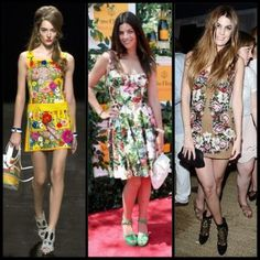 Floral Trend This seasons Fashion Forecast: Fashions biggest trend for the season are all things floral. www.lovefashionkm.com Fashion Forecasting, Fashion Sandals, All Things, Glamour, Seasons, Summer Dresses, Spring, Floral, Womens Fashion