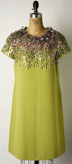 Cocktail dress House of Dior (French, founded 1947) Date: fall/winter 1966–67