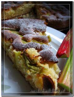 Puszyste ciasto ucierane z rabarbarem - pyszne i tanie!