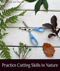 Practice Scissor Skills Outside