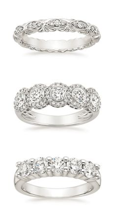 Luxurious diamonds sparkle in our classically beautiful wedding rings. Which one would you pick?