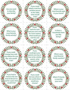 Keep the conversation flowing with these good conversation starters. Print out the cards and give to guests to prompt their conversation. #print #party