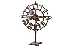 "BoBo Intriguing Objects | 36"" Iron Clock Face on Stand 