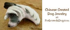 Handmade Chinese Crested dog jewelry pin at ForLoveofaDog.com is on sale with free standard shipping.