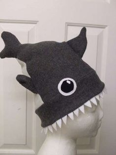 DIY shark attack hat