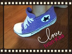 Crochet pattern WOMAN inspired by converse style shoes by IvonKaa