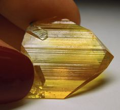 Anglesite, totally gemmy crystal.