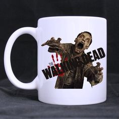 Generic Unique Design The Walking Dead Pattern Home Ceramic Custom White Muging Mug Cup (Printed On  @ niftywarehouse.com