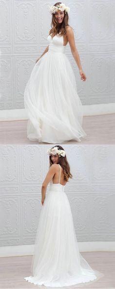 white wedding dresses,simple wedding dresses,backless wedding dresses,beach wedding dresses,bridal gowns @simpledress2480