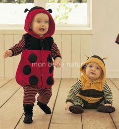 DEGUISEMENT BEBE / ENFANT * Coccinelle ou Abeille de 0 à 3 Ans *