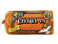 Why is Ezekiel Bread Good for You Ezekial bread is made from SPROUTED GRAINS instead of flour. When the grains are sprouted and combined it creates a protein that closely parallels the protein found in milk and eggs. Ezekial bread digests much more easily What Is Ezekiel Bread, Ezekiel Bread Recipe Easy, Ezekiel Bread Benefits, Easy Bread Recipes, Healthy Recipes, Healthy Foods, Diet Recipes, Healthy Eating, Healthy Life