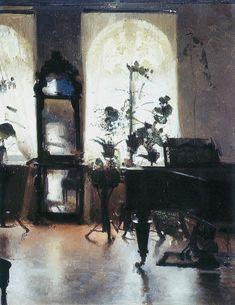 Левченко. Интерьер с роялем . 1900-е
