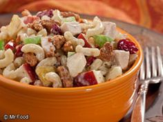Autumn Pasta Salad - This autumn dish is full of some of our favorite ingredients: apples, pears, maple syrup, and more. You won't be able to resist!