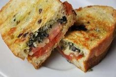 Tomato Basil Pesto Grilled Cheese Sandwich. Replace the American cheese with a second slice of provolone.