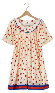 Primary Polkas Dots: Playful Dress