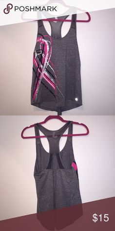 XS Ideology Racerback Tank Top Show your support for breast cancer awareness with this super cute gray mesh racerback workout tank featuring a pink ribbon down the front.  Size: XS Brand: Ideology Colors: Gray, Pink, Black, Silver  Condition: NWT Retail: $30 Ideology Tops Tank Tops