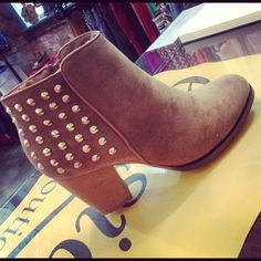 $53 Love our studded ankle boot! www.facebook.com/shopelysian or @shopelysian