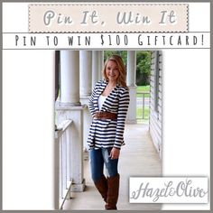 Time for a PINTEREST Giveaway! Pin your favorite looks directly from our website to your Pinterest boards for a chance to win a $100 gift card! Whichever pin gets the most unique clicks back to our site wins {our website tracks them}. Giveaway ends next Friday (11/1)‼️ #PinItToWinIt #PinterestContest #giveaway #giftcardgiveaway #PinIt #pinterest #freemoolah #spreadtheword #toptrends #retailtherapy #tgif #alwaysfreeshipping #fashionandstyle #trendalert #contest  (at…
