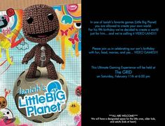 Little Big Planet Party Invitation | by Parties with Charm