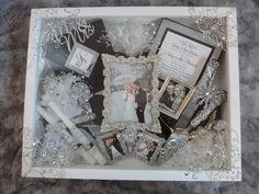 Beautiful wedding shadow box on ETSY! A must-have for any wedding or wedding gift! Wedding Memory Box, Wedding Boxes, Wedding Frames, Post Wedding, Wedding Shadow Boxes, Diy Wedding, Wedding Gifts, Dream Wedding, Wedding Day