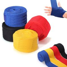 ELOS-2PCS 2.5M Boxing Handwraps Boxing Bandage MMA Train Wrist Protect Handwraps Fist Punching Bandage red