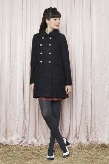 Coat in Black Rockabilly Fashion, Rockabilly Style, Revival Clothing, Coat, Jackets, Clothes, Black, Down Jackets, Outfits