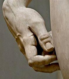 Michelangelo's David hand