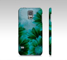 Beautiful Turquoise Blue Flowers Samsung Galaxy5 Case