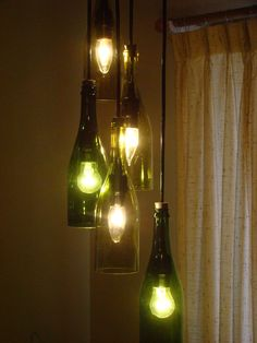 Delightful Wine Bottle Chandelier