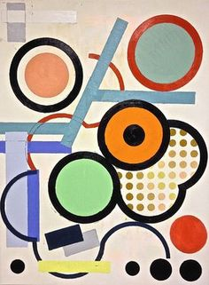 """Artist Julien Corcoran Porisse; Painting, """"Circles-Dots & Curves"""""""