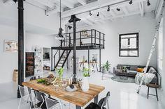 (3) FINN – TØYEN: New York-inspirert designleilighet i Christiania Hesteskofabrikk. 70 kvm./260 kubikk stue - fantastisk romfølelse
