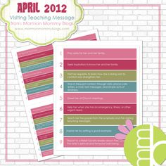 Home > free LDS printables, printables, visiting teaching, Visiting Teaching Printables > April 2012 Visiting Teaching Message: Free Printable  April 2012 Visiting Teaching Message: Free Printable