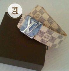Authentic Louis Vuitton Damier Azur Belt : Unworn condition Comes with box Size : Authentic Louis Vuitton, Louis Vuitton Damier, Belt, Pattern, Belts, Patterns, Model, Swatch