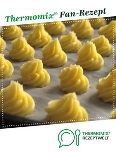 Duchess Potatoes - French Duchesse by A Thermomix ® recipe from .- Herzogin Kartoffeln – Pommes Duchesse von Ein Thermomix ® Rezept aus … Duchess Potatoes – French Duchesse by One… - Shellfish Recipes, Seafood Recipes, Beef Recipes, Italian Recipes, Mexican Food Recipes, Ethnic Recipes, French Recipes, Salmon Recipes, Potato Recipes