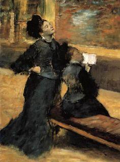 Edgar (Hilaire Germain) Degas (de Gas) - Museumsbesuch