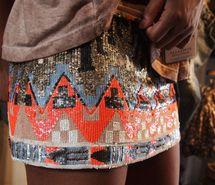 Especially loving the aztec skirts!