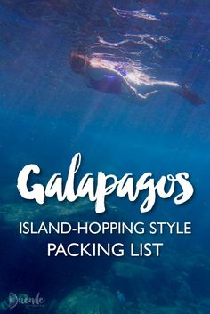 """""""A comprehensive Galapagos packing list for island-hopping (land-based) style exploration of the amazing archipelago. Includes a free printable checklist to download."""" #galapagos #galapagosislands"""