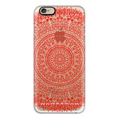 iPhone 6 Plus/6/5/5s/5c Case - PASSION FEATHER MANDALA (140 PEN) ❤ liked on Polyvore featuring accessories, tech accessories, iphone case, iphone cover case, apple iphone cases and slim iphone case